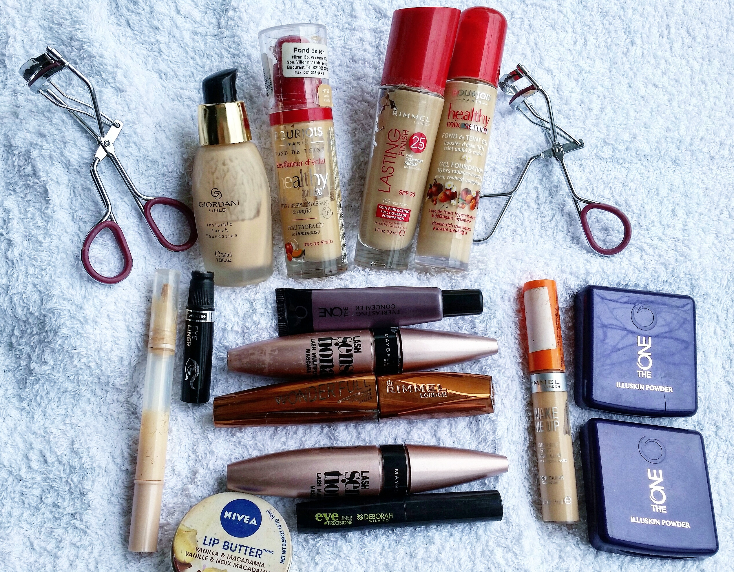empties march  - makeup - bourjois  maybelline lash sensational oriflame rimmel london - beautyandatwist