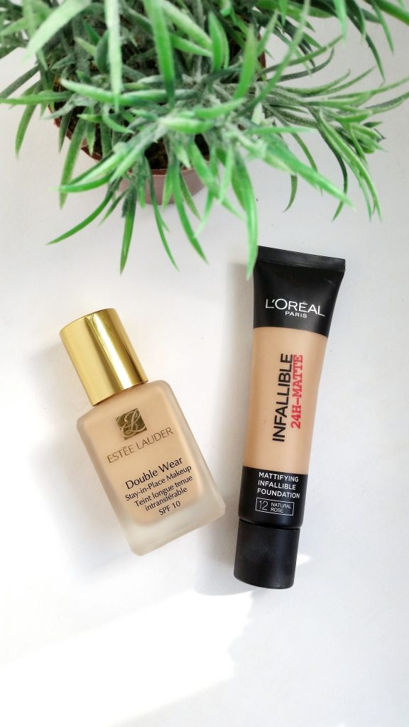 estee-lauder-double-wear-loreal-infallible-matte-foundation-review-beautyandatwist-july-2017